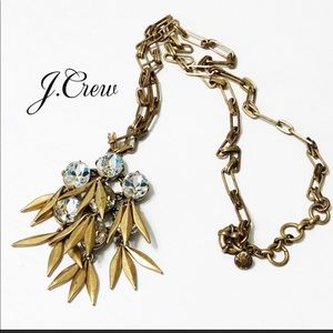 Beautiful J Crew necklace gold and crystals